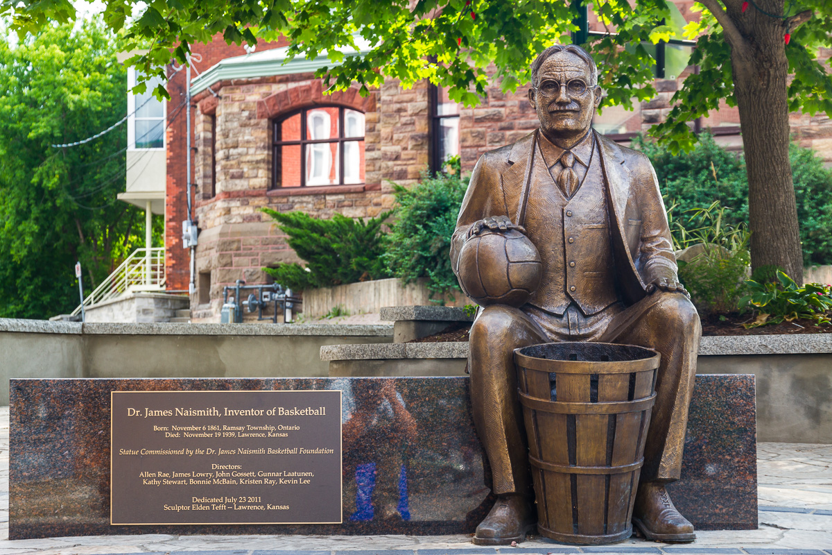 Dr. James Naismith Statue