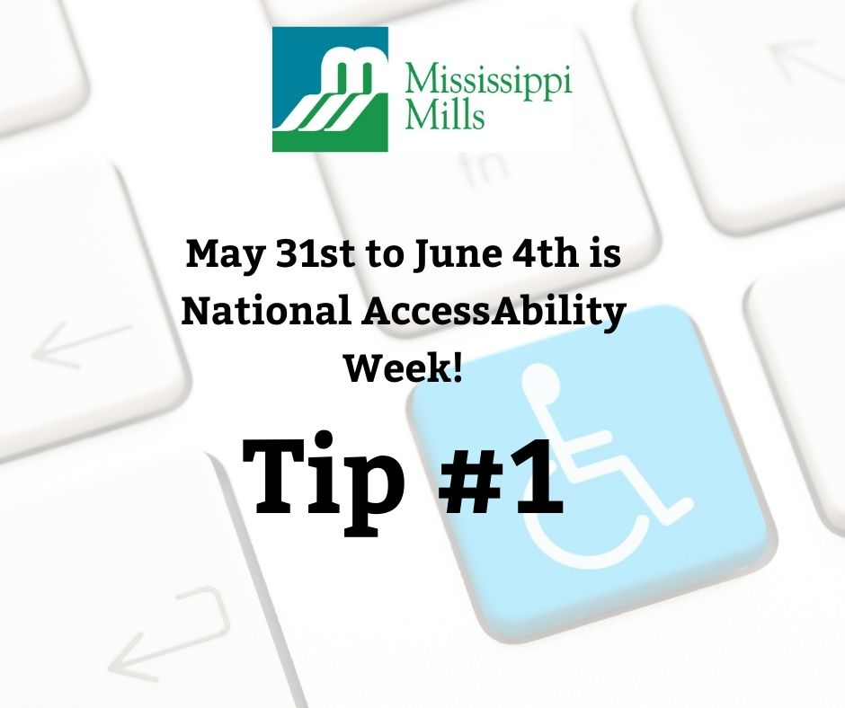 National AccessAbility Awareness Wee - Tip #1