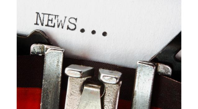 news written from typewriter